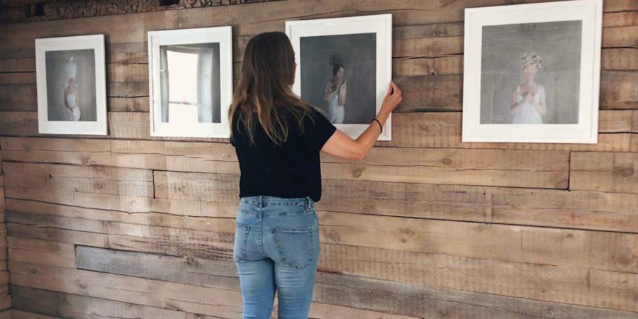 Preparations for the art exhibit KAC Skövde 2018